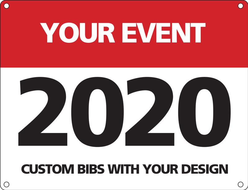 Custom race Bib for event