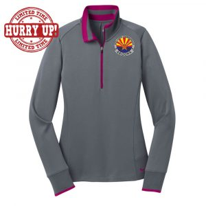 AZ1-Nike Ladies Dri-FIT 1/2-Zip Cover-Up